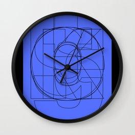 Die Neue Haas Grotesk (C-03) Wall Clock