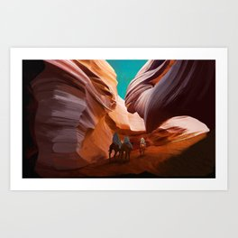 Landscape Talk Art Print