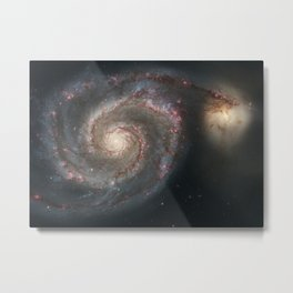 The Whirlpool Galaxy Metal Print