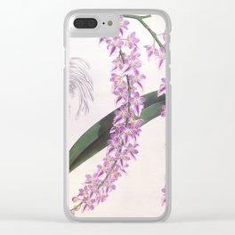 Aerides Lobbii Vintage Lindenia Orchid Clear iPhone Case