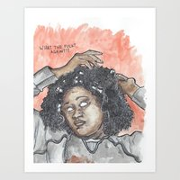 oitnb Art Prints featuring Taystee OITNB by Ashley Rowe