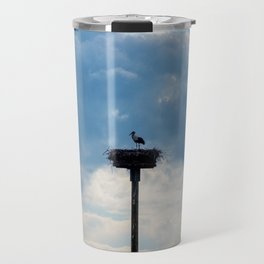 A Stork among the Clouds Travel Mug