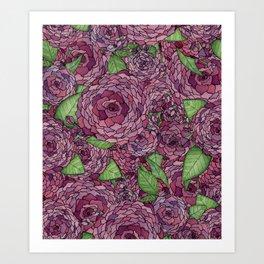 Camilla Collage Art Print