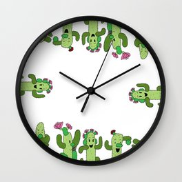 Cactus Family (colour version) Wall Clock