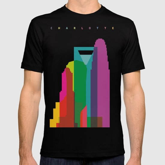Shapes of Charlotte accurate to scale T-shirt