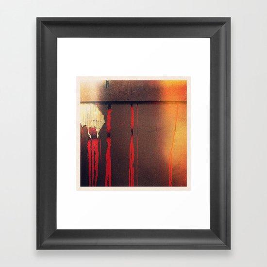 fall apart Framed Art Print