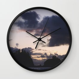 Sunset at La Push Wall Clock