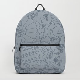 DC NYC London - Powder Blue Backpack