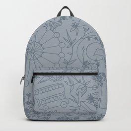 DC NYC London - Powder Blue Backpack