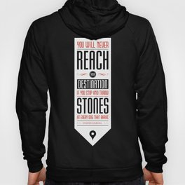 Lab No. 4 - Never reach destination winston churchill's Quotes Poster Hoody