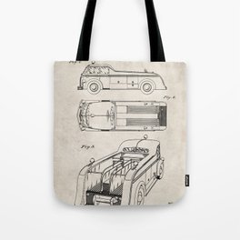 Fire Truck Patent - Fireman Art - Antique Tote Bag