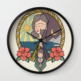 family portrait Wall Clock