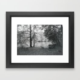 Park bench... Framed Art Print