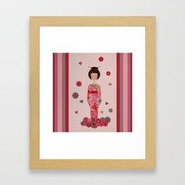 Kokeshi Geisha Japan Framed Art Print