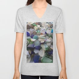 Sea Glass Assortment 2 Unisex V-Neck