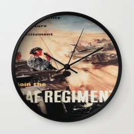 Vintage poster - Royal Air Force Wall Clock
