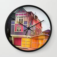 barbie Wall Clocks featuring Barbie House by Kim Ramage