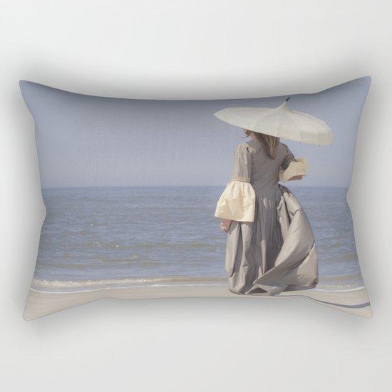 White Parasol Rectangular Pillow
