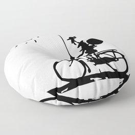 Don Quixote Riding Bike, Sketch Line Parody 1955 T Shirt Floor Pillow