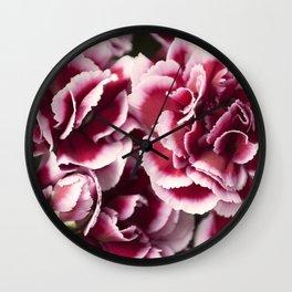 Carnation Blooms Wall Clock