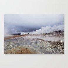 Man on the moon, Iceland Canvas Print