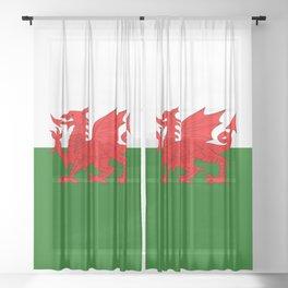 Welsh Dragon Flag Sheer Curtain