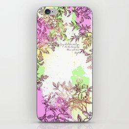 Floral Splatter iPhone Skin