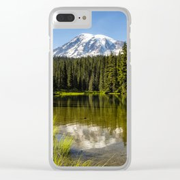 Mt Rainier from Reflection Lake, No. 3 Clear iPhone Case