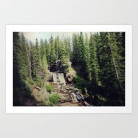ashton irwin Art Prints featuring Irwin Falls by Teal Thomsen Photography