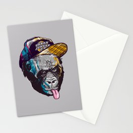 Gorillas Thinkers of the Urban Jungle Stationery Cards