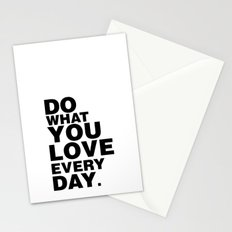 Do What You Love Everyday Stationery Cards
