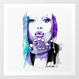 I give you a blown kiss Art Print