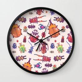 Beetle - pastel Wall Clock