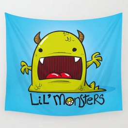 Lil' Monster Green Wall Tapestry