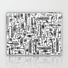 Horns B&W II Laptop & iPad Skin