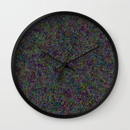 R Experiment 12 - Tree town map Wall Clock