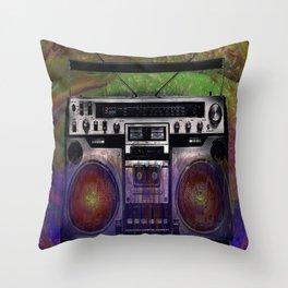 Music Boom Box  Throw Pillow