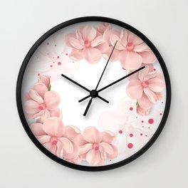 Flower crown Wall Clock