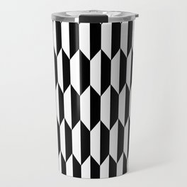 Black Quadrilateral - Baby Stimulation Pattern Travel Mug