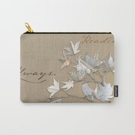 In love with reading - collage of leaves from old book pages Carry-All Pouch