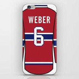 Shea Weber Jersey iPhone Skin