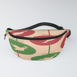 Christmas Pattern Pidgeon Patterns Red Green Fanny Pack