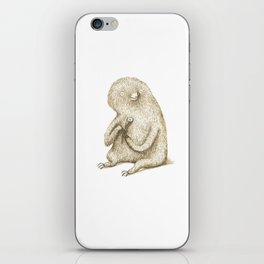 Sloth With Flower iPhone Skin