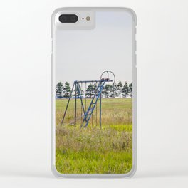 Playground, Palmgren Township School, North Dakota 1 Clear iPhone Case