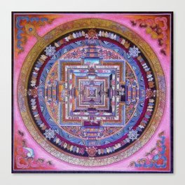 Kalachakra Sera - Mandala Canvas Print
