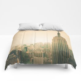 New York City - Empire State Building Comforters