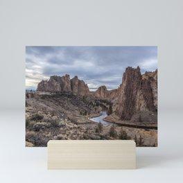 Twilight at Smith Rock State Park Mini Art Print