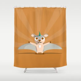 The Dino-zoo: Flying squirrel-saurus Shower Curtain