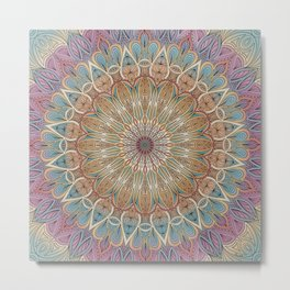 Gentle Touch Mandala Art Metal Print