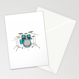 Green Drum Kit Stationery Cards